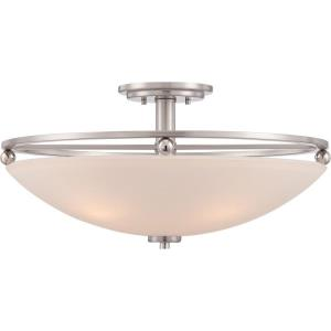 9.5 Inch 4 Light Semi-Flush Mount