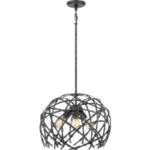 Pantheon - 3 Light Pendant - 15.25 Inches high