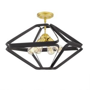 Dorsey - 4 Light Semi-Flush Mount
