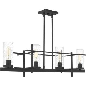 4 Light Linear Chandelier in Transitional style - 38 Inches wide by 16 Inches high