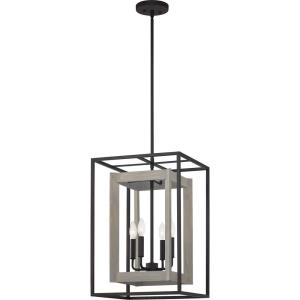 4 Light Foyer in Transitional style - 15 Inches wide by 22.75 Inches high