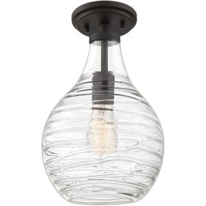 Genie - One Light Semi-Flush Mount - 13.75 Inches high