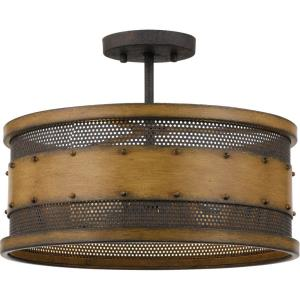 Roadhouse - 4 Light Semi-Flush Mount - 8 Inches high