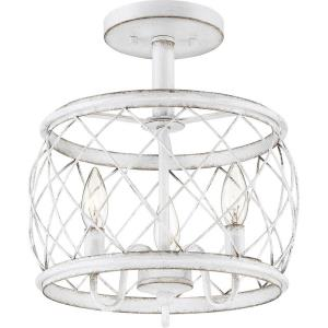 Dury - 12.5 Inch 3 Light Semi-Flush Mount