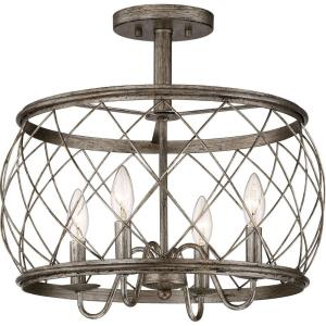 Dury - 4 Light Semi-Flush Mount