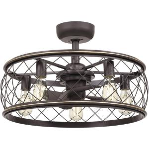 Dury - 40W 5 LED Fandelier in Transitional style - 22 Inches wide by 9.75 Inches high