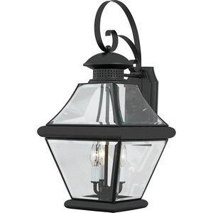 Rutledge 24 Inch Outdoor Wall Lantern Transitional Brass