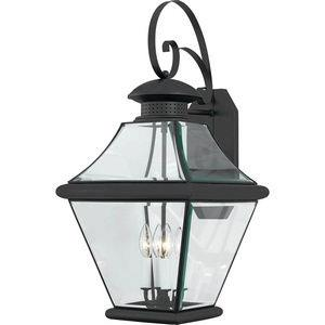 Rutledge 29 Inch Outdoor Wall Lantern Transitional Brass