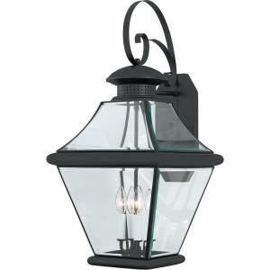 Rutledge 29 Inch Outdoor Wall Lantern Transitional Brass