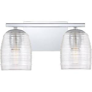 Realm 2 Light Transitional Bath Vanity Approved for Damp Locations - 7.5 Inches high