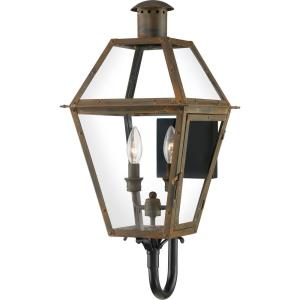 Rue De Royal 23.5 Inch Outdoor Wall Lantern Traditional Brass/Steel Approved for Wet Locations