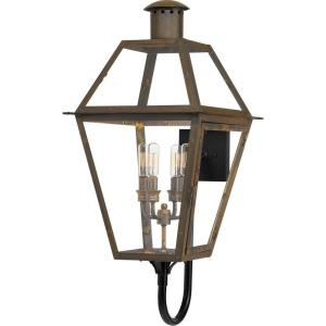 Rue De Royal 29.5 Inch Outdoor Wall Lantern Traditional Brass/Steel Approved for Wet Locations