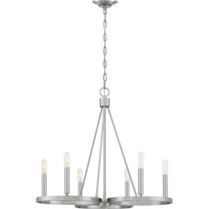 Revival Chandelier 6 Light Steel - 23 Inches high