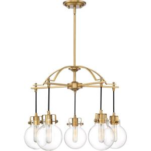 Sidwell Chandelier 5 Light  Steel