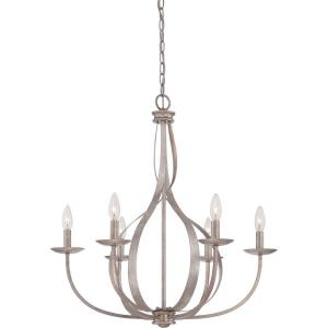 Serenity Chandelier 6 Light - 27.5 Inches high