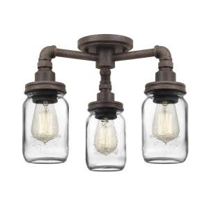 Squire - 3 Light Semi-Flush Mount
