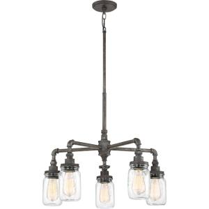 Squire Large Chandelier 5 Light  Steel