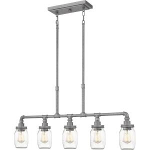 Squire Linear Chandelier 5 Light  Steel