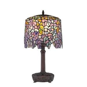 Purple Wisteria Tiffany - 1 Light Table Lamp