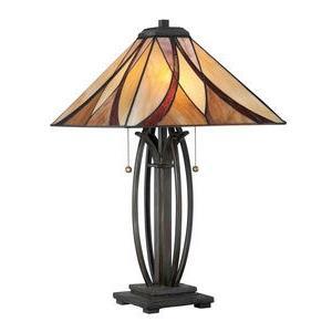 Asheville Tiffany - 2 Light Table Lamp