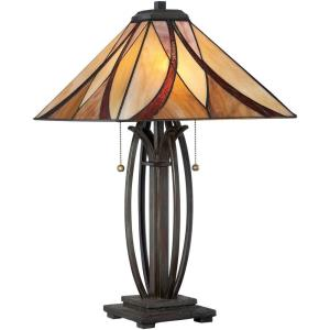 Asheville Tiffany - 2 Light Table Lamp - 25 Inches high