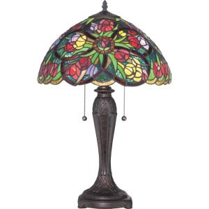 Tiffany - 24.5 Inch 2 Light Table Lamp