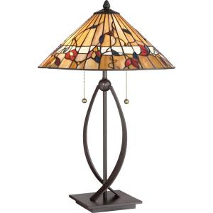 """Tiffany - 10.56"""" Two Light Table Lamp"""