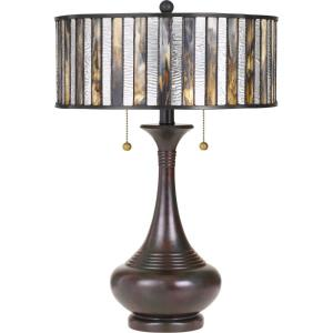 Tiffany - 21.5 Inch 2 Light Table Lamp