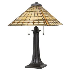 Tiffany - 25.75 Inch 2 Light Table Lamp