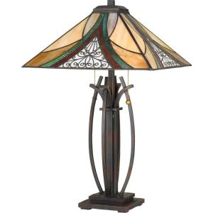 Tiffany - 24.75 Inch 2 Light Table Lamp