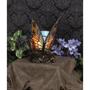 Orange Butterfly - One Light Tiffany Accent