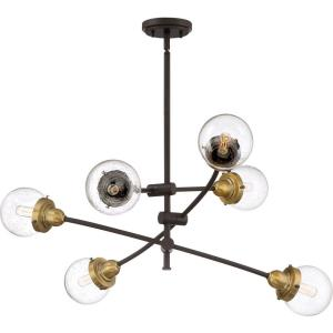 Trance Chandelier 6 Light Steel - 10.5 Inches high