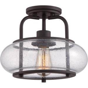 Trilogy - 1 Light Semi-Flush Mount - 10 Inches high