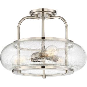 Trilogy - 3 Light Large Semi-Flush Mount
