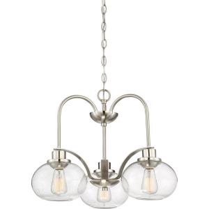 Trilogy DInette Chandelier 3 Light  Steel - 16.5 Inches high