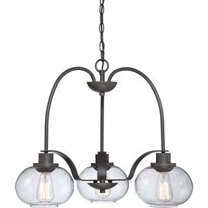 Trilogy Chandelier 3 Light  Steel