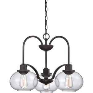 Trilogy Chandelier 3 Light  Steel - 16.5 Inches high