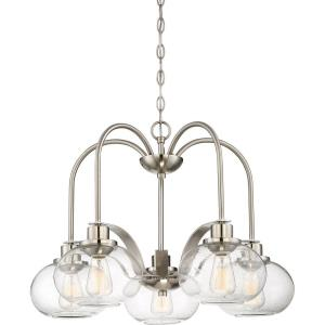 Trilogy DInette Chandelier 5 Light  Steel - 19 Inches high