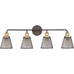 Vault 4 Light Transitional Bath Vanity Approved for Damp Locations - 11 Inches high