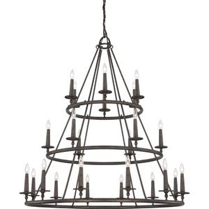 Voyager Chandelier 4 Light  Steel