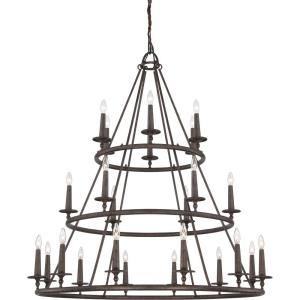Voyager Chandelier 4 Light  Steel - 52 Inches high