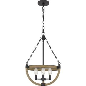 Wagner - 3 Light Pendant in Transitional style - 16 Inches wide by 22 Inches high