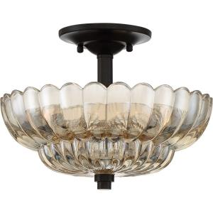 Whitecap - 3 Light Medium Semi-Flush Mount