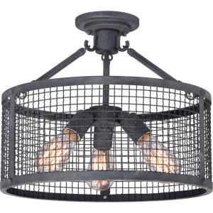 Wilder - 3 Light Semi-Flush Mount