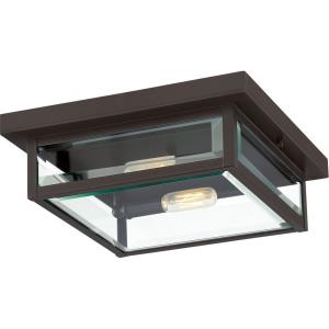 Westover 2-Light Outdoor Flush Mount - 4 Inches Tall and 12 Inches Square