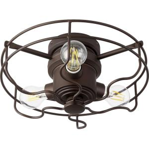 "Windmill - 14"" 18W 3 LED Cage Ceiling Fan Light Kit"