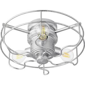 Windmill - 18W 3 LED Cage Ceiling Fan Light Kit in Transitional style - 14 inches wide by 5.5 inches high