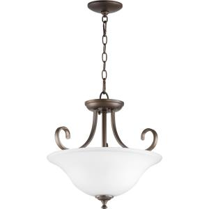 Celesta - 2 Light Dual Mount Pendant in Quorum Home Collection style - 18 inches wide by 17 inches high
