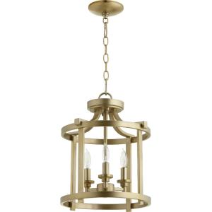 Lancaster - 3 Light Dual Mount Pendant in Transitional style - 13 inches wide by 15.75 inches high