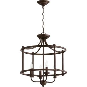 Rossington - 4 Light Dual Mount Pendant in Quorum Home Collection style - 18 inches wide by 18.5 inches high